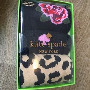 NWT Kate Spade 3/pk Black Socks sz 9-11 in Giftbox
